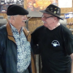 Lou Mueller (on left) traveled from St. Louis to see long time friend Roger Bockstaele.