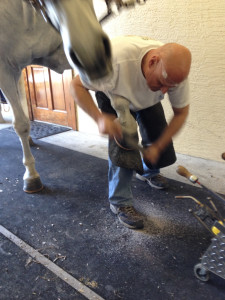 Tim Cable Finishing Hoof.