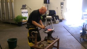 Bob Pethick, APF CJF shaping the shoe.