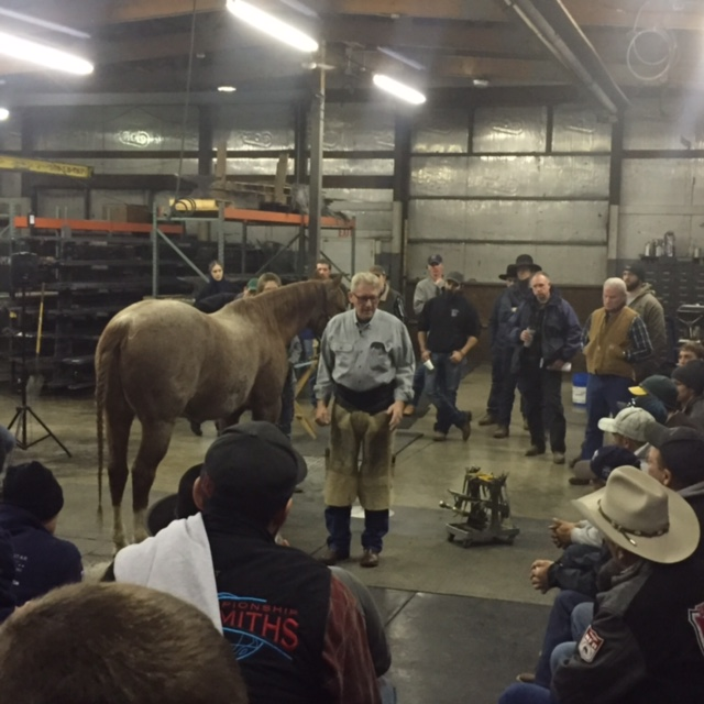 Farrier Terry Stever shares details about his shoeing methods