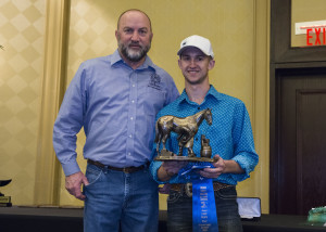Josh Tompkins, CJF (Right) as the 2016 Kerckhaert-Liberty Intermediate Division High Point Award Winner Pictured with Allen Horton, FPD sponsor