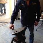 Roy Bloom measuring anvil