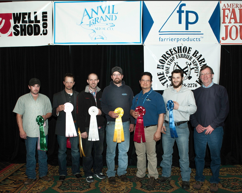 Intermediate Qualifier Class ribbon presentation. From right to left, Victor Frisco, CJF, Alan Dryg, CJF, DJ Fiske, Ryan Stoops, CJF, Jason Critton, CJF, TE, Charles Johnson
