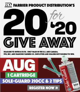 20 for 20 August giveaway Vettec Sole-Guard